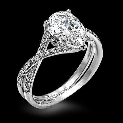 Simon G. Pear Shaped Diamond Mounting With Twist Band