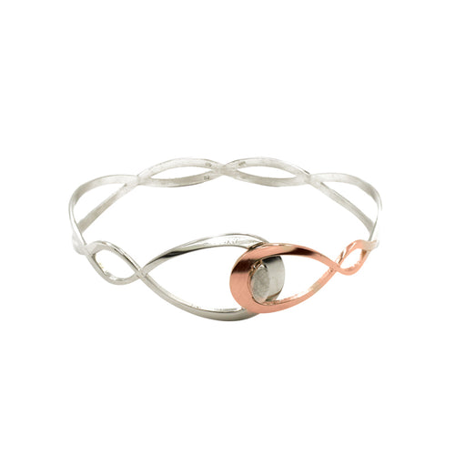 Frederic Duclos Pear Rose And Silver Cuff