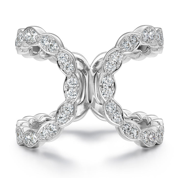 Hearts On Fire Diamond Lorelei Floral Open Ring
