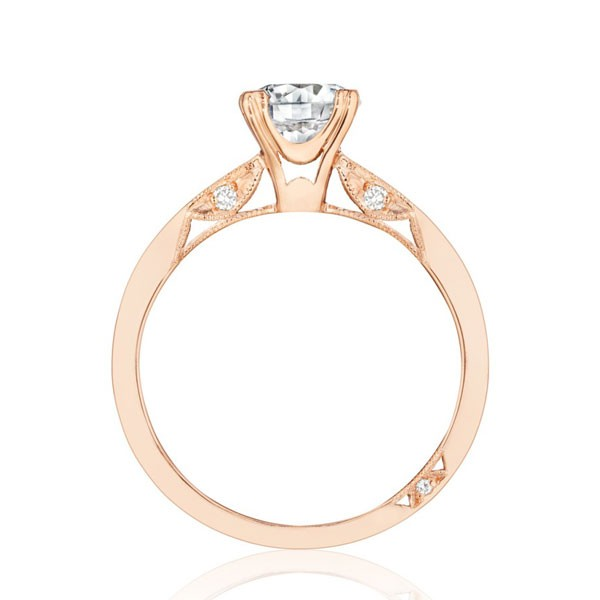 Tacori Simply Tacori Rose Gold Tapered Engagement Ring - 2584rd6.5pk