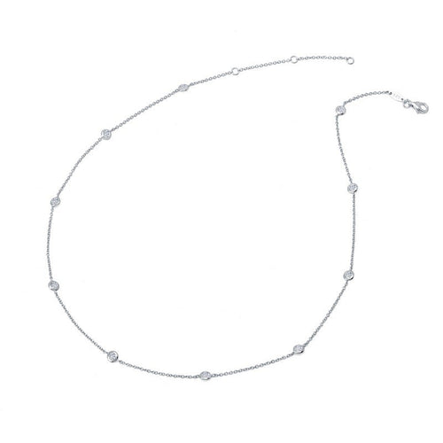 Lafonn 1.10 Carat Bezel Station Necklace