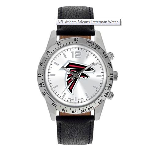 Atlanta Falcons Leather Watch