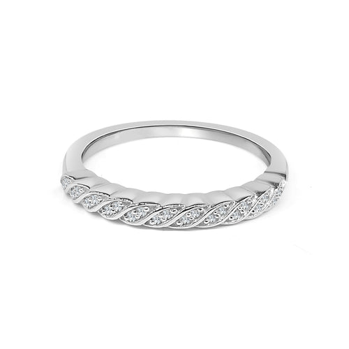 Twisted Diamond Stack Ring