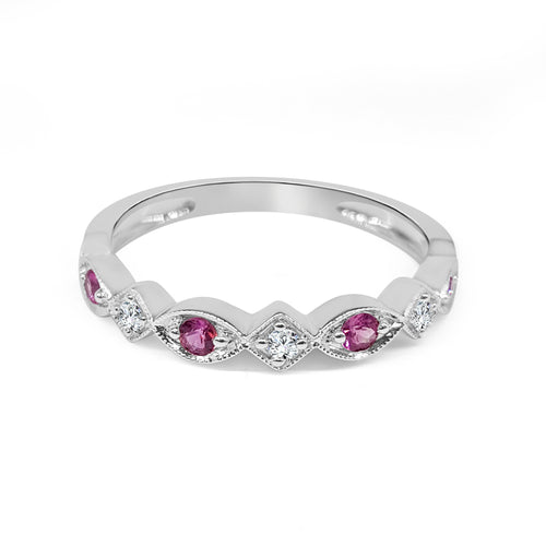 Pink Sapphire Stack Band