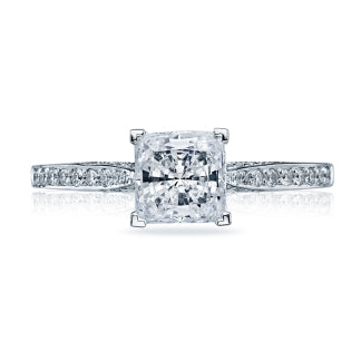 Tacori Princess Cut Solitaire And Diamond Fancy Band - 2638prp5.5w