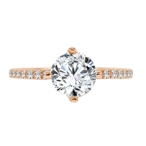 Solitaire With Diamond Band