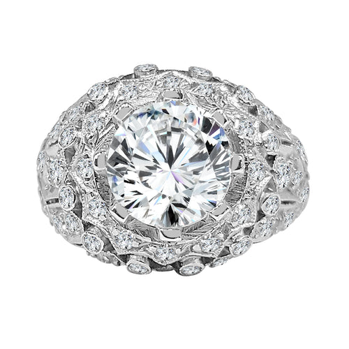 Wide Antique Style Diamond Ring