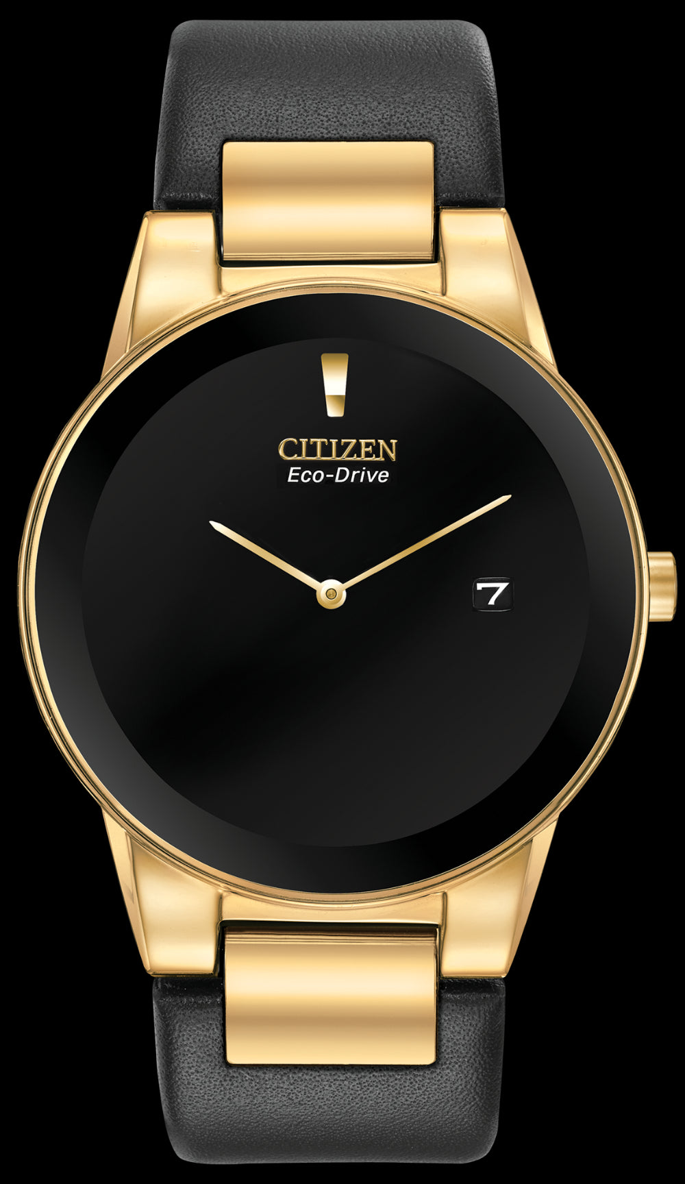 a87e7586a Citizen Mens Axiom Gold Tone Watch With Black Dial And Leather Band – A&J  Jewelers - Snellville Jeweler