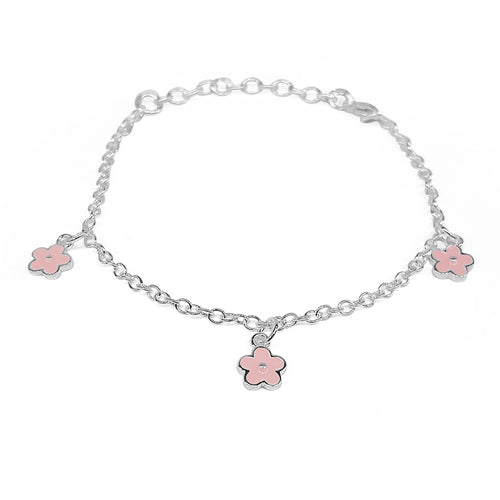 Enamel Flower Childrens Bracelet