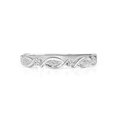 Diamond Swoop Fancy Stack Band