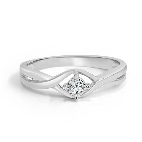 Entwined Diamond Engagement Ring