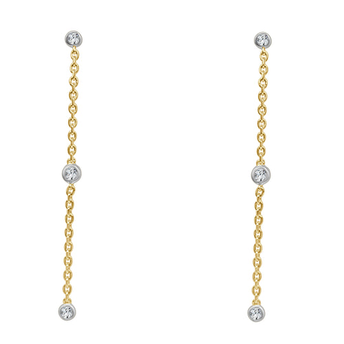 Diamond By The Yard Drop Earrings