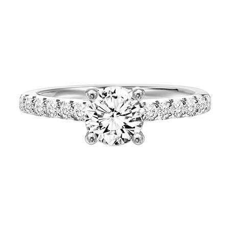 Round Prong Set Diamond Solitaire Engagement Ring