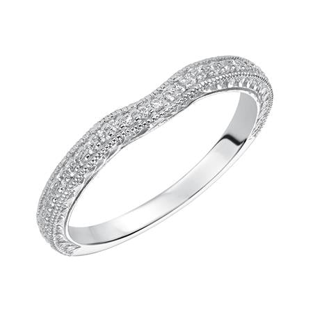 diamond milgrain and engraved curved wedding band a j inc