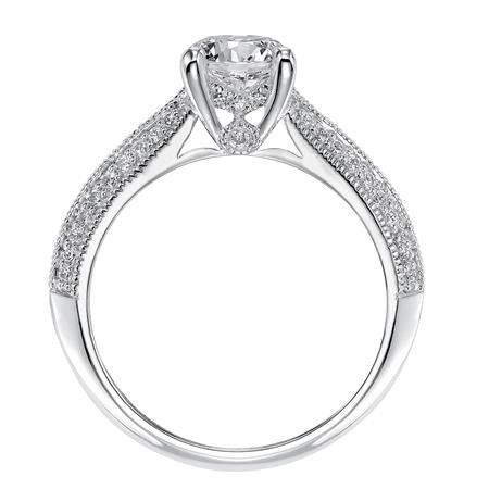 Milgrain Knife Edge Solitaire Engagement Ring