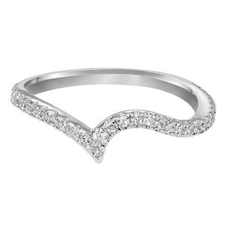 Curved Diamond Wedding Band To Fit Matching Engagement Ring