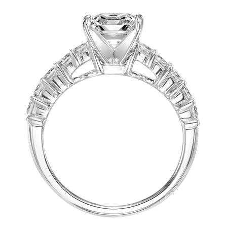 Princess Cut Shared Prong Diamond Engagement Ring