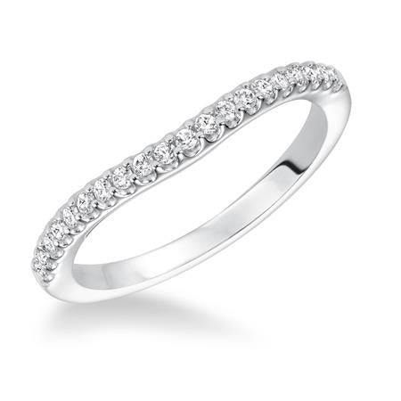Prong Set Wedding Band With Slight Curve