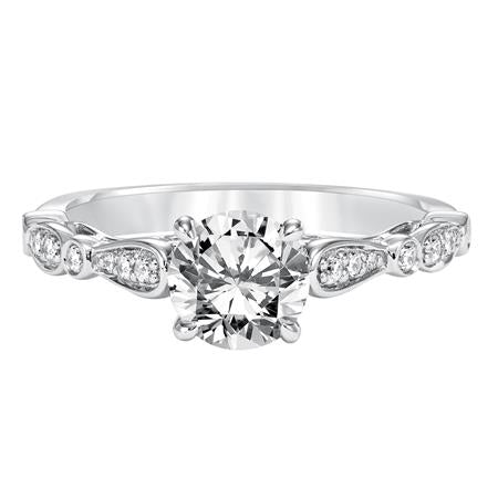 Prong And Bezel Set Diamond Solitaire Engagement Ring