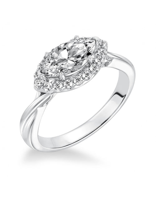 Marquise Set Diamond With Halo Ring