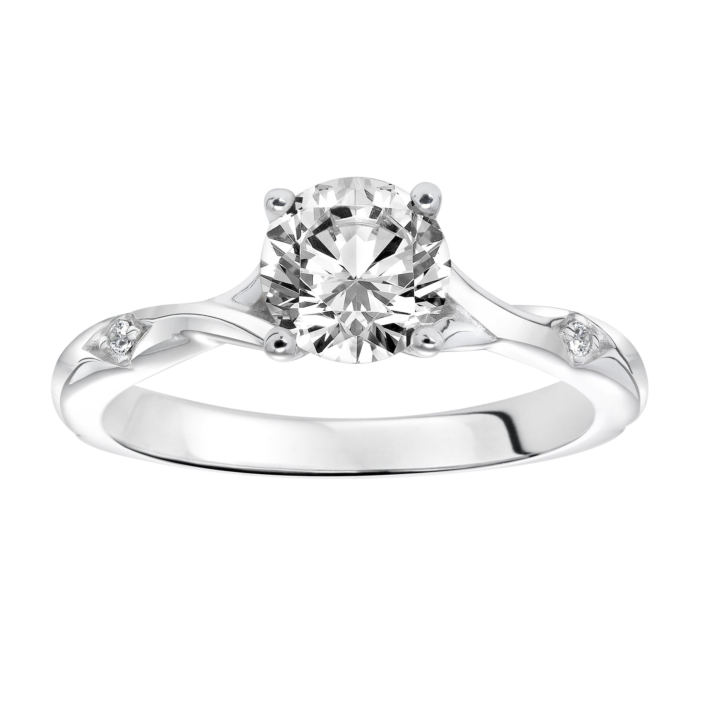vine three rings ct white platinum bridal engagement twist set petite diamond twisted tw band stone