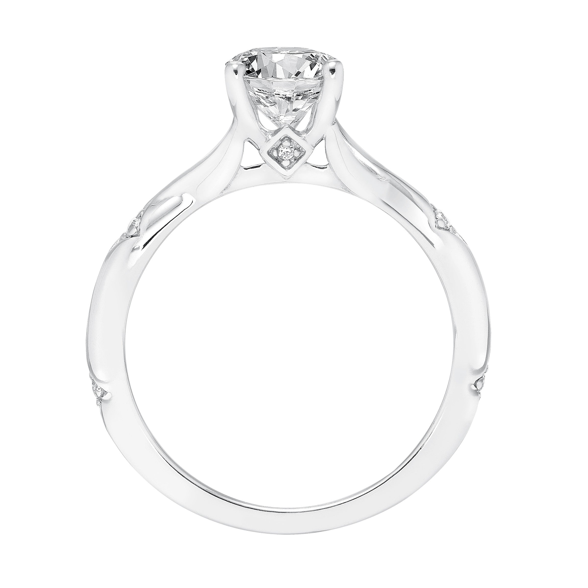 wedding prong inc double twist j rings a products ring cathedral engagement diamond e solitaire