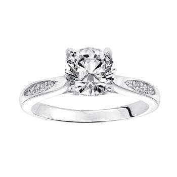 Solitaire With Fancy Diamond Band