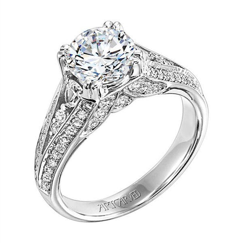 Solitaire With Fancy Split Diamond Band