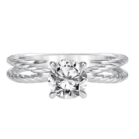 Caitlin Two Tone Solitaire Engagement Ring