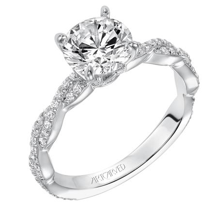 Braided Solitaire Diamond Engagement Ring