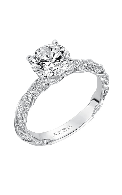 Solitaire With Fancy Twist Diamond Band