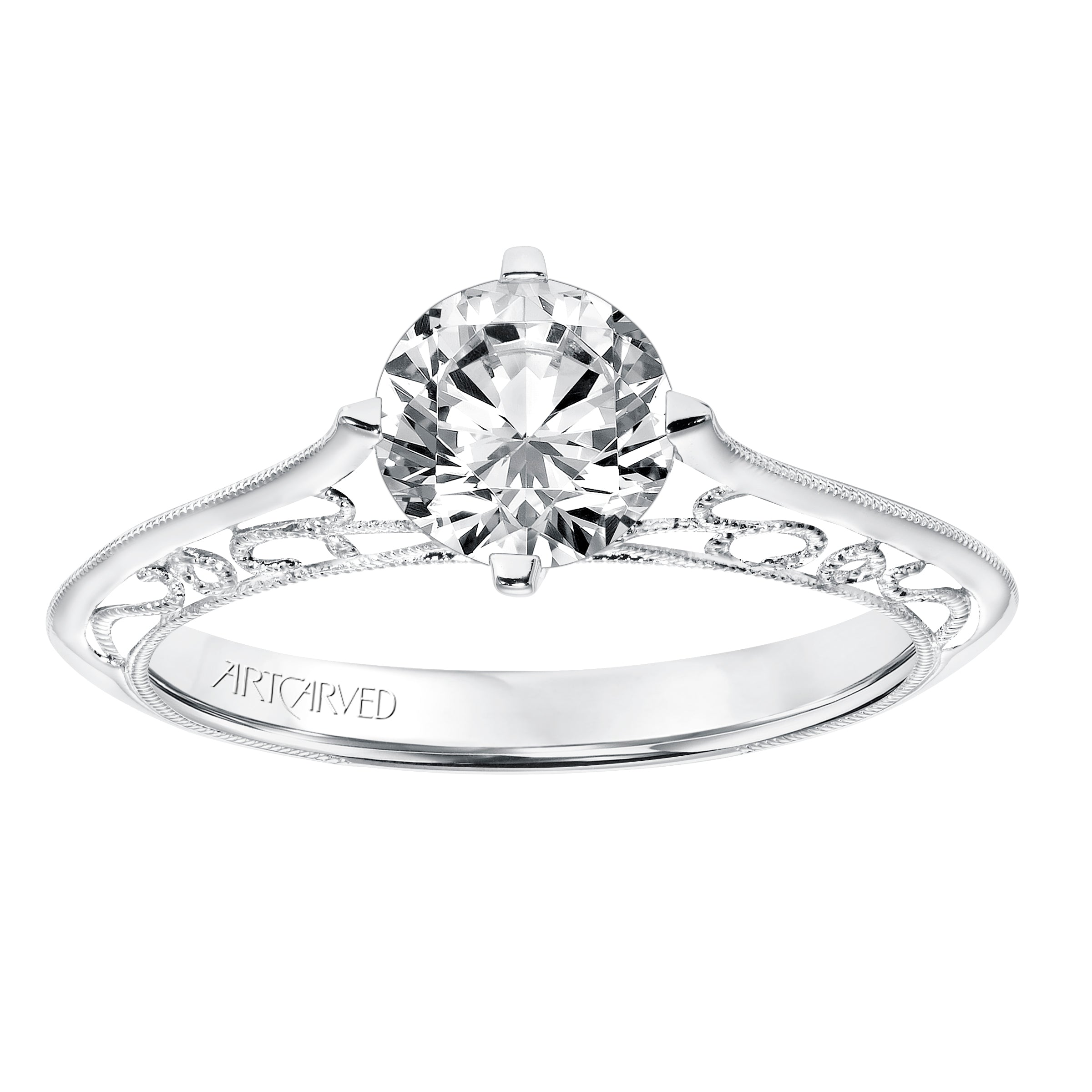 rings white gold product shop stone diamond solitaire forever engagement ring two us carat rakuten