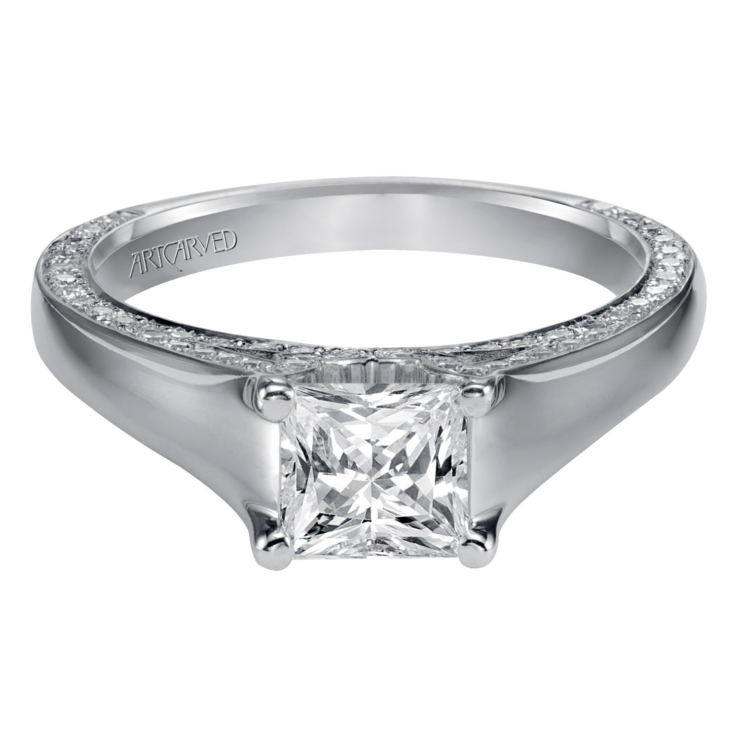 14 Karat White Gold Engagement Mounting