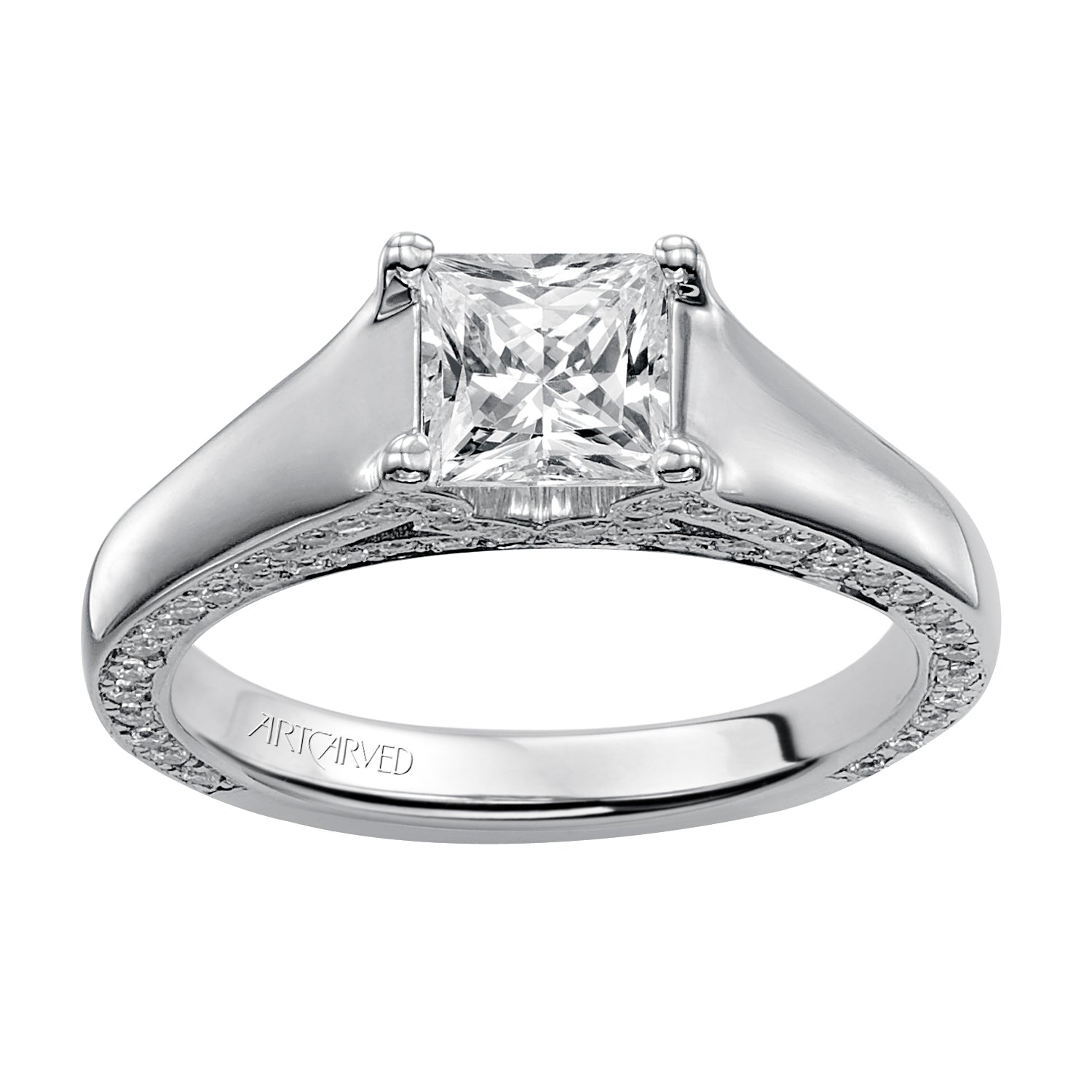 cut pear ring diamond diamonds w platinum accent engagement product rings baguette