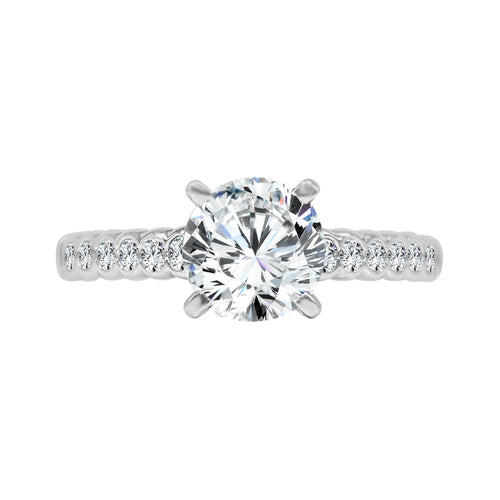 Solitaire With Miracle Set Round Diamond Band