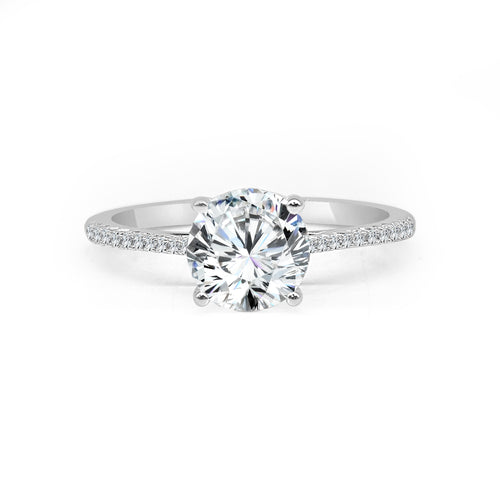 Fana Solitaire With Graduating Diamonds Band