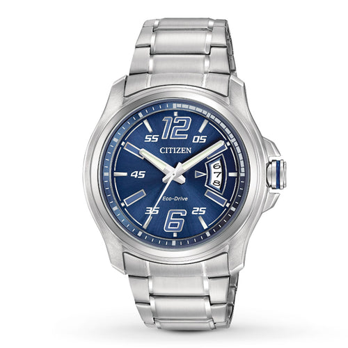 Citizen Mens Ecodrive Blue Dial With Date