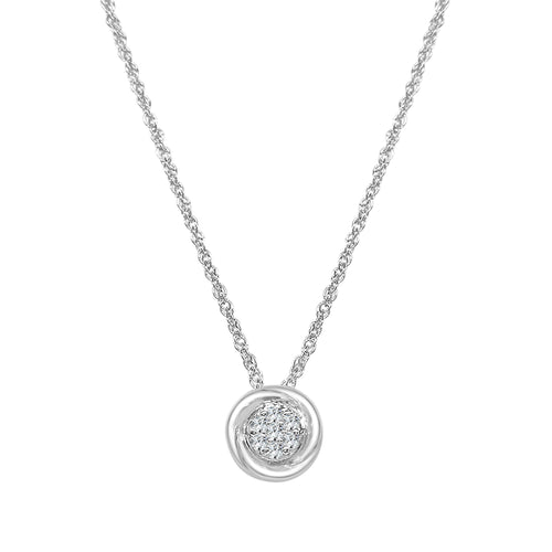 Diamond Cluster Fancy Pendant and Chain