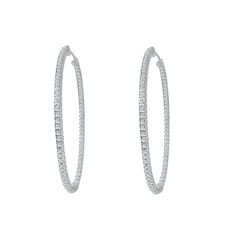 Inside Out 3 Carat Diamond Hoop Earrings
