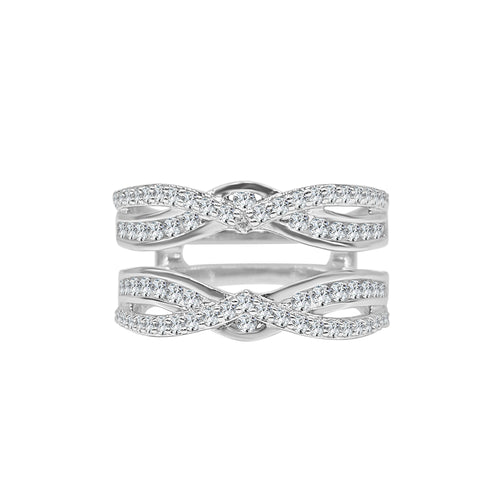 Curved Split Band Diamond Ring Guard