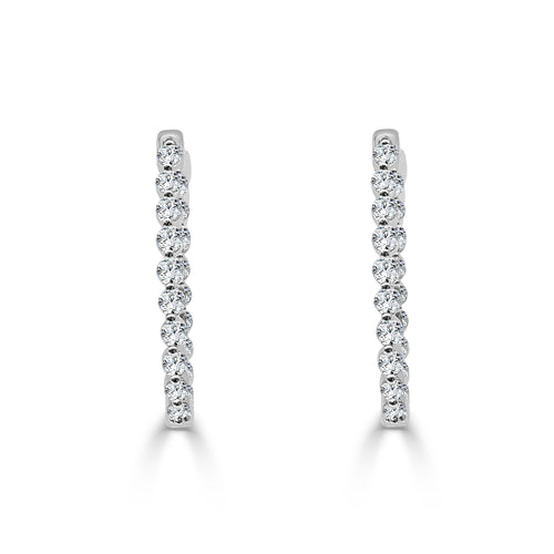 One Carat Diamond Inside-out Hoops