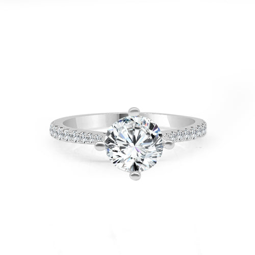 Fana Solitaire With Graduated Diamond Band