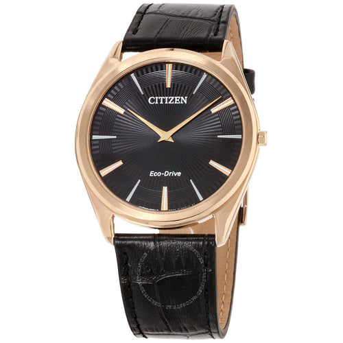 Citizen Ecodrive Rose With Black Dial And Leather Band