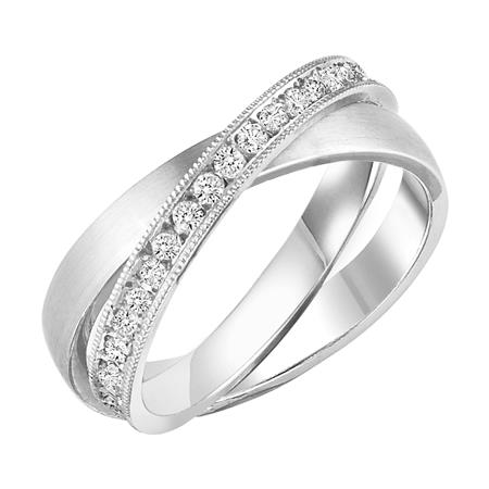 14 Karat White Gold 0.37 Carat Diamond Wedding Band