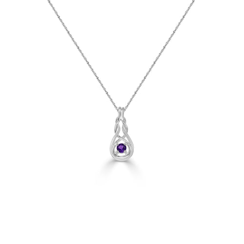 Amethyst Knot Necklace
