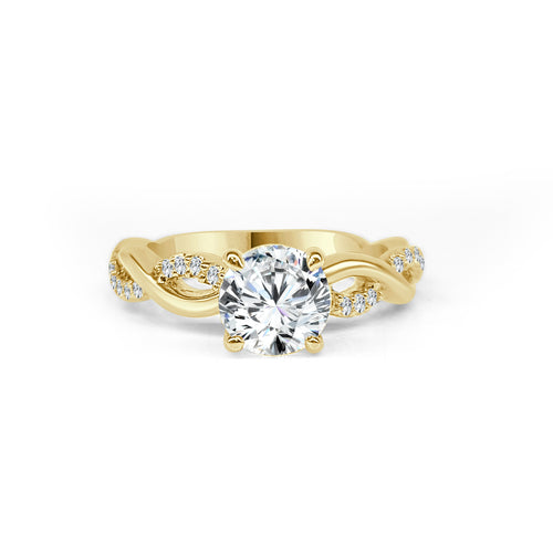 Twisted Shank Diamond Engagement Ring