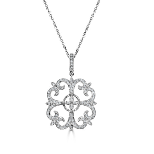 Lafonn Lassaire Fancy Swirl Necklace