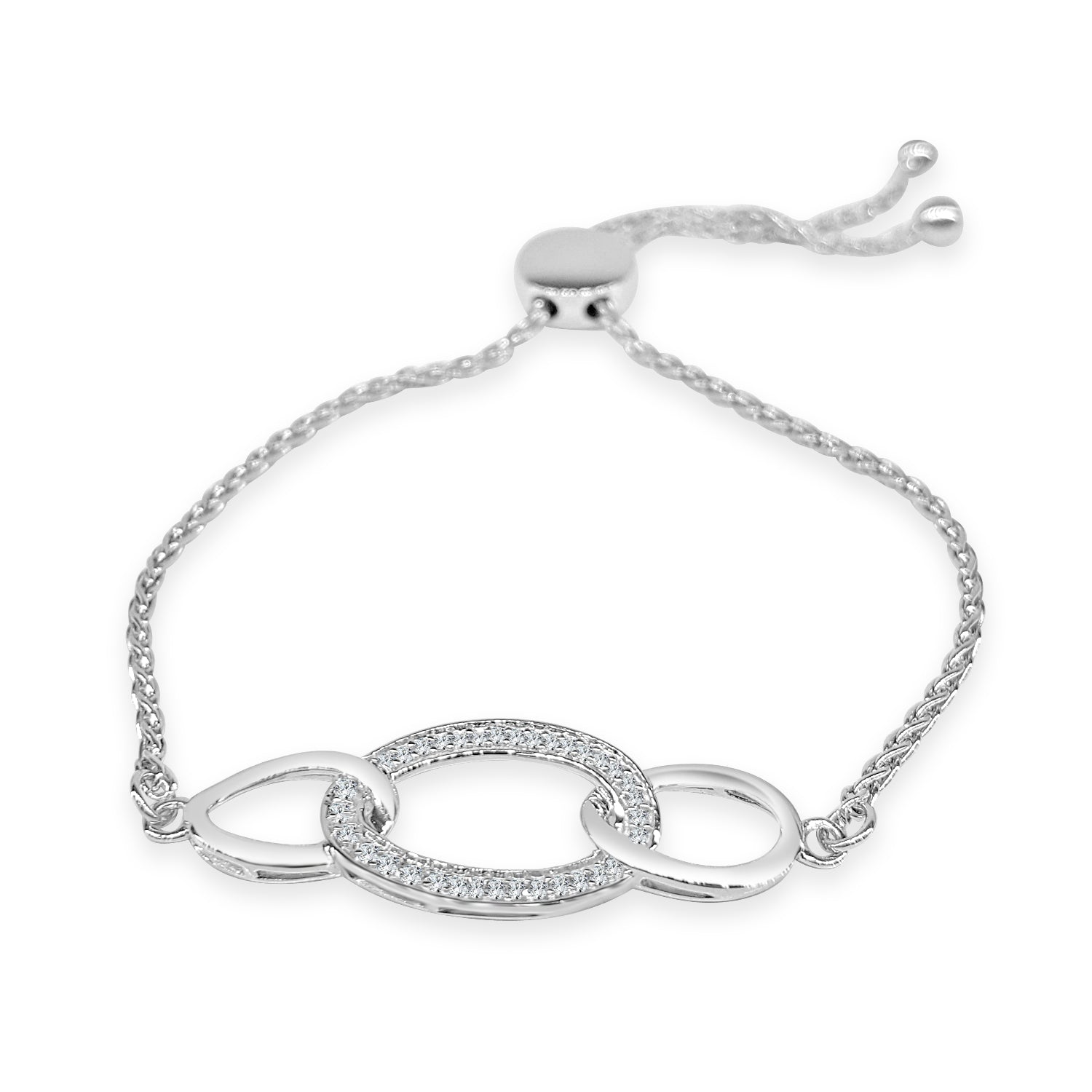 ct sterling silver bolo bracelet shah luxury diamond