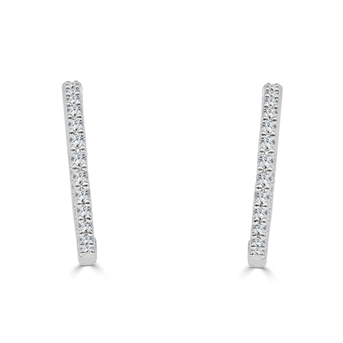 Inside Out 0.75 Carat Diamond Hoop Earrings