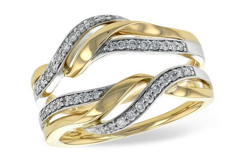 Two-tone And Diamond Twist Ring Guard